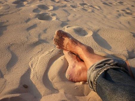 Mezítláb ápolt láb