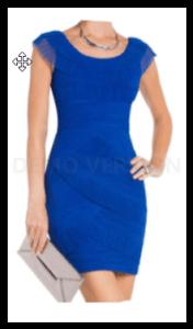 elegáns kék koktélruha