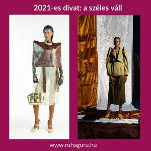 2021-es divat a széles váll
