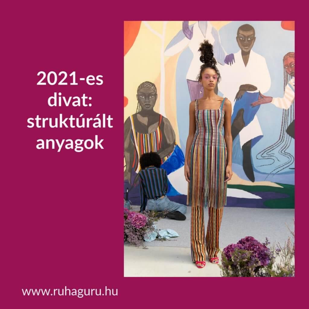 2021-es divat: plisszírozott anyag